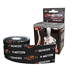 Genesis K-Motion Tape with Copper Infuzion- Black UNCUT Roll