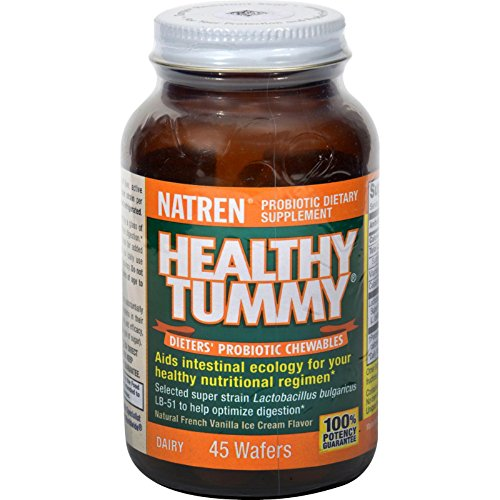 Natren Healthy Tummy Dieters' Probiotic Chewable Wafers, - Wafers 45