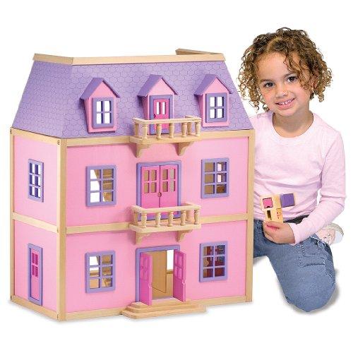 Melissa Doug Multi Level Dollhouse Furniture