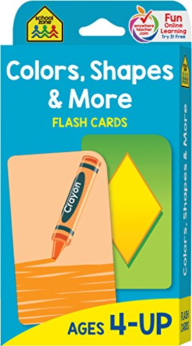 School Zone - Colors, Shapes and More Flash Cards - Ages 4 and Up, Shapes, Shape Recognition, Colors, Matching, Grouping, and More thumbnail