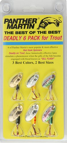 Panther Martin Best of the Best Red Hook Spinner Fishing Lure Kit, Pack of 6, Outdoor Stuffs