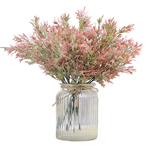 astic Eucalyptus Leaves Bushes Fake Antlers Greenery Plants Indoor Outside Home Garden Office Wedding Decor (Green Red) (Eucalyptus Lavender Bouquet)