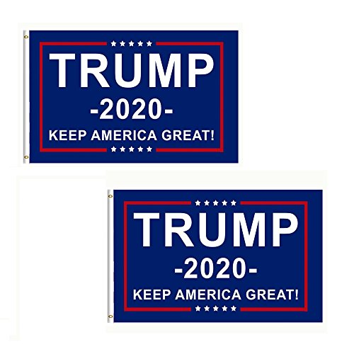 ack Donald Trump 2020 President Keep America Great 3x5 Feet MAGA Banner Flag ()