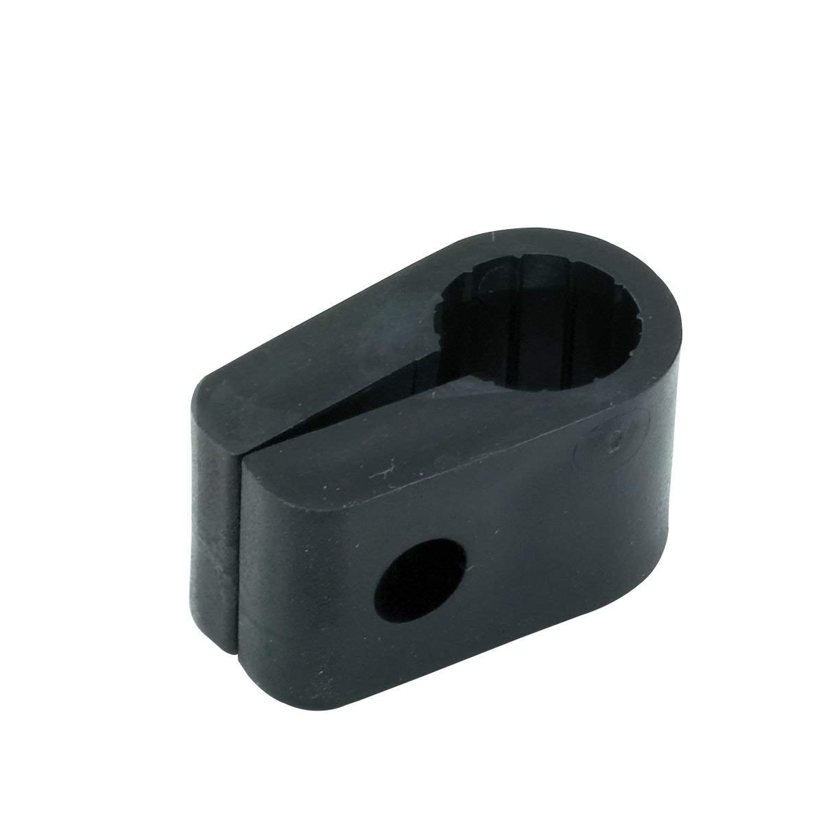 15.2mm Black Heavy Duty Cable Cleats Clips Size No 6 Pack Sizes from 5x-50x