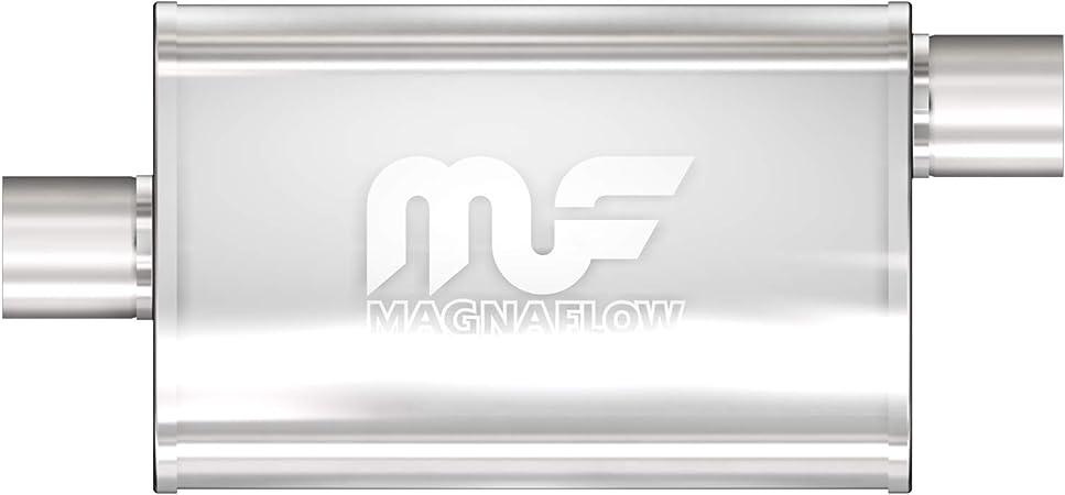 "Magnaflow 11236 Performance Muffler 2.5/"" Offset//Offset 4x9x14 Oval Stainless"