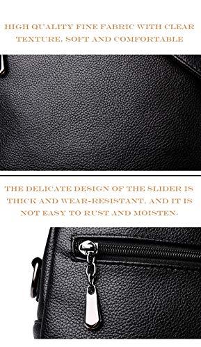 Borsa Selvaggia Tempo Da Hjly funzione Libero Doppio A Per Multi Pelle Blu Antifurto Morbida Leather Donna In Zaino Uso Il RqY8wF