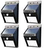 Solar Lights outdoor 20 LEDs solar wall lights outdoor Waterproof Solar Motion Sensor Light outdoor Solar Powered Motion Detector Lights for Garden, Fence, Patio Yard, Driveway(4 pack)