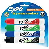 1 X Sanford Ink Corporation Scented Whiteboard Marker,Chisel,4/St,Chocmint/Chr/Apple/Bry