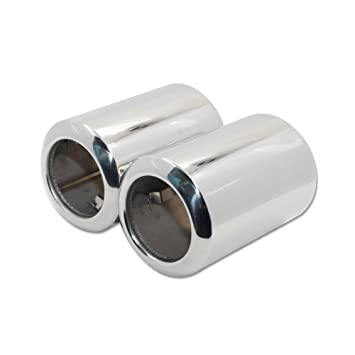 Fit Mazda 6 2014 2015 2016 2017 Exhaust Muffler Tip Pipes Stainless Steel Chrome