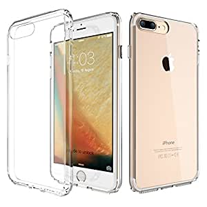 ATGOIN Flexible TPU Hybrid Shock Absorbing Back Panel Bumper Case for iPhone 8 Plus/iPhone 7 Plus - Crystal Clear