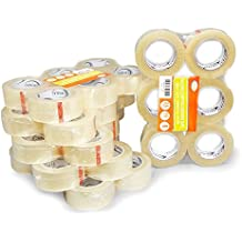 """36 Rolls XL Oknuu Clear Packaging Packing Tape 2"""" Super Strong Carton Sealing Tape - 2.6 MIL Thickness - Industrial Depot Tape for Moving Packaging Shipping, Office & Storage (2.6 Mil / 110 Yards)"""