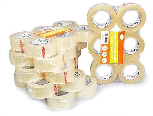 36 Rolls XL Oknuu Clear Packaging Packing Tape 2