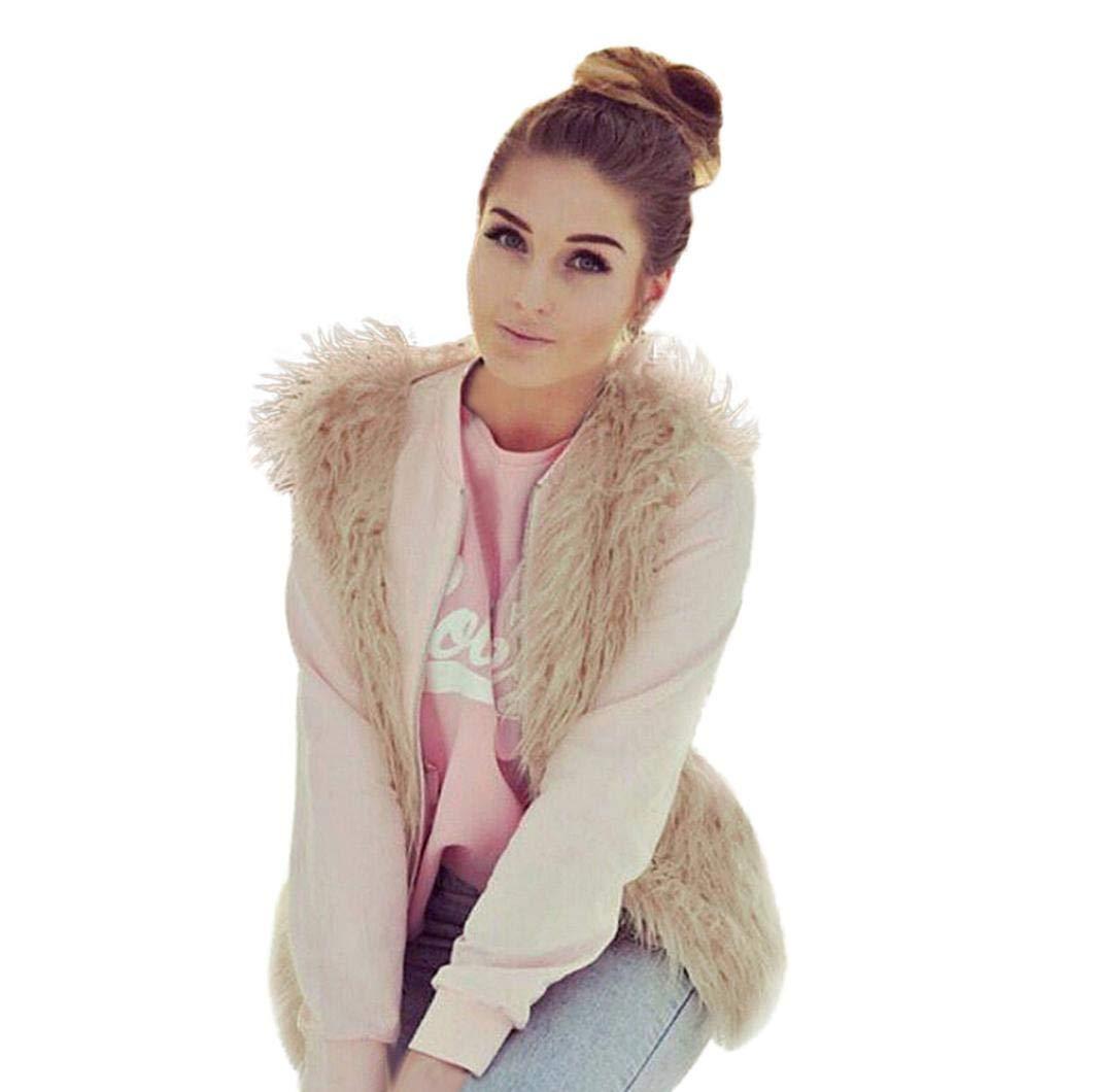 Pandaie Jacket,Women Faux Fur Ladies Sleeveless Vest Waistcoat Jacket Gilet Shrug Coat Outwear
