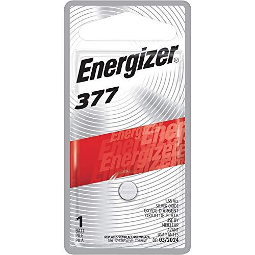 Energizer 377BPZ Miniature Battery f/Electronic Watch 1.55Volt Silver ()