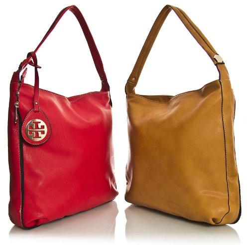 BHBS Exclusivo Bolso 2 en 1 Grande de Hombro para Dama tipo Tote 38x33x11 cm (LxAxP) Beige Claro y Marrón