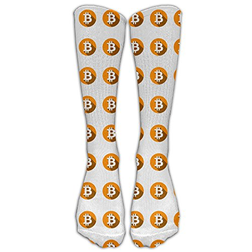Unisex What Bitcoin BTC Is Men's Sports Athletic Compression Football Soccer Socks Knee High Sock - BEST Stockings For Running, Medical, Athletic, Edema, Diabetic,
