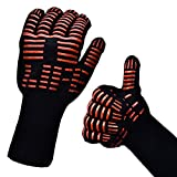 amish cooking gloves - Oven Mitts Gloves BBQ Grilling Cooking Gloves - 932F Extreme Heat Resistant Gloves Long For Extra Forearm Protection