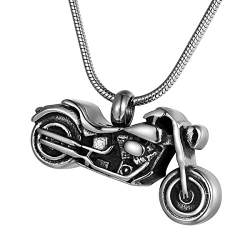 Motorcycle Cremation Urn Pendant Necklace product image