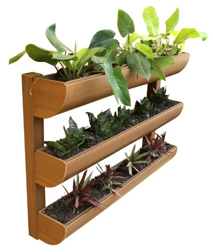 DC America City Garden CG-WP-360724-T Wall Planter, 3 Shelves by D C America