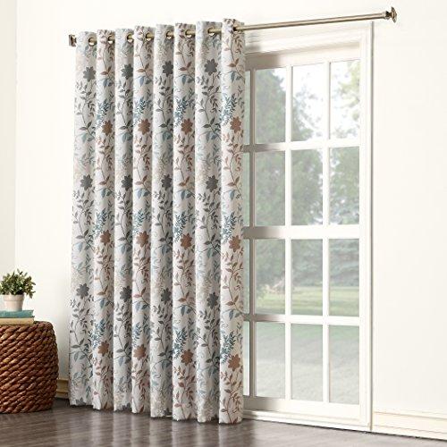 Cheap  Sun Zero Kara Extra Wide Energy Efficient Grommet Patio Door Curtain Panel