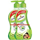 Santoor Fresh Gentle Hand Wash, 215ml (Buy 1 Get 1 Free) with Natural goodness of Sweet Lime Peel & Tulsi