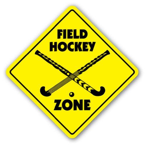 Field Hockey Ball Made (FIELD HOCKEY ZONE Sign stick bag ball players gift)