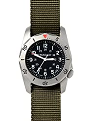 Bertucci A-2TR Vintage 12115 Mens Olive Titanium Nylon Band Black Quartz Dial Watch