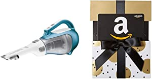BLACK+DECKER Dustbuster Cordless Vacuum, 16V (CHV1410L) & Amazon.com Gift Card in a Gold Reveal