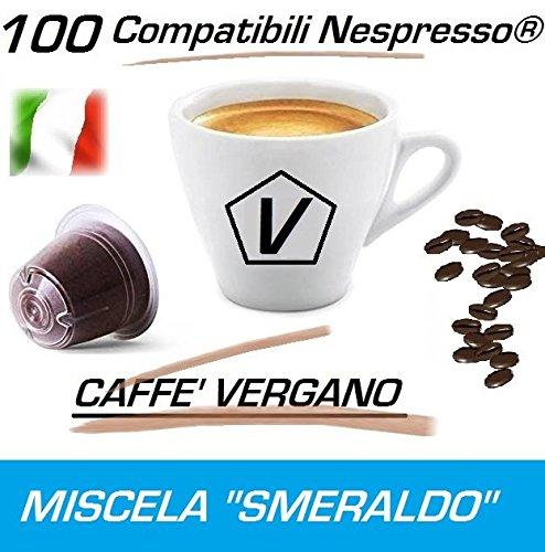 6 opinioni per Capsule Compatibili Nespresso®, Confezione da 100 Capsule Caffè Vergano Miscela