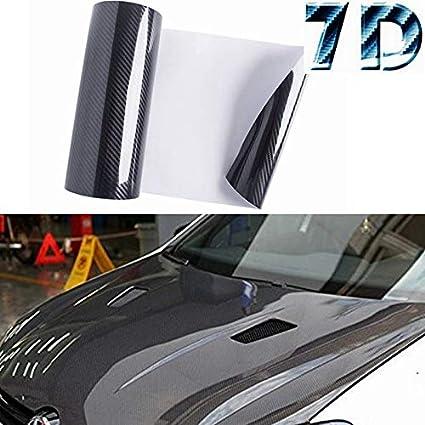 *Premium 4D White Gloss Carbon Fiber Vinyl Wrap Bubble Free Air Release DIY Film