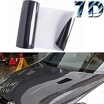 Color 7D Premium Super Gloss Carbon Fiber Vinyl Wrap Bubble Free Air Release 6D