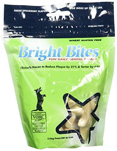 Bright Bites (Bright Bites Daily Dental Fresh Spearmint Flavor Small Dog Treats)