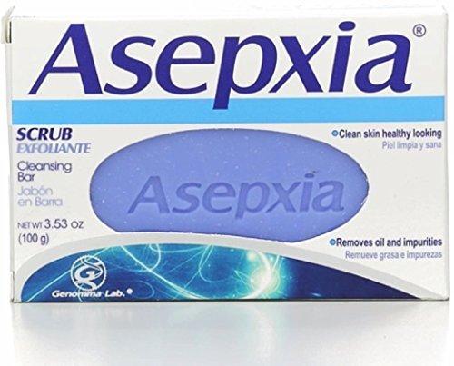 Asepxia Cleansing bar scrub 3.53 oz (100 g), 4.0 Ounce