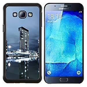 "Be-Star Único Patrón Plástico Duro Fundas Cover Cubre Hard Case Cover Para Samsung Galaxy A8 / SM-A800 ( Urbana Noche Paisaje urbano"" )"