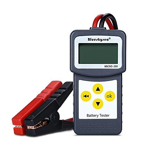 Blueskysea MICRO-200 12V Car Battery Tester Vehicle Digital Analyzer Automotive Alternator Tester Diagnostic Tool Bad Cell Test Tool w/Printing Function EFB/AGM/Gel CCA100-2000, 30-200Ah by Blueskysea