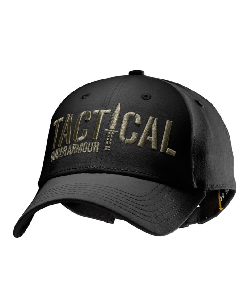81fa6f4f316 Under Armour 1229789 Black - Desert Sand Letters Tactical Hat One Size Fits  All  Amazon.co.uk  Sports   Outdoors