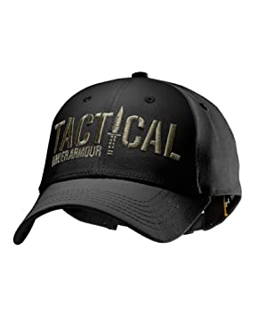60ef6d32330 Image Unavailable. Image not available for. Colour  Under Armour 1229789  Black - Desert Sand Letters Tactical Hat One Size Fits All