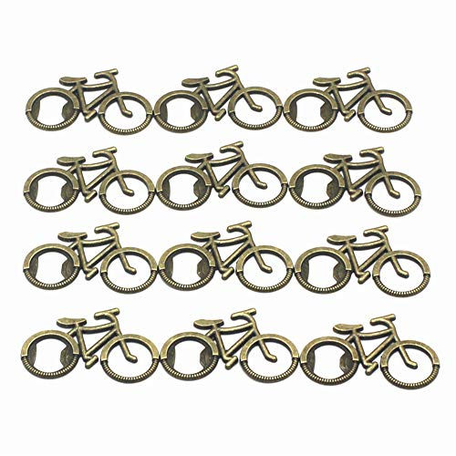 ZHU YU CHUN Antique Bicycle Bottle Opener, Wedding Favors, Party Favors (Pack of 12)