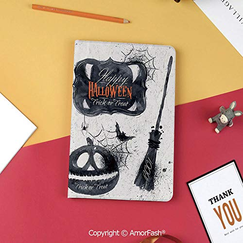 - Case for Samsung Galaxy Tab S3 9.7 SM-T820 with Stand,Slim Fit Leather Folio Cover,Vintage Halloween,Halloween Symbols Happy Holiday Witch Lives Here Broomstick Spider Web Decorative,Black White