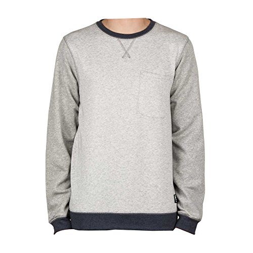 Etnies Crew Sweatshirt Point A Grey/Heather Size L (Etnies Mens Sweatshirt)