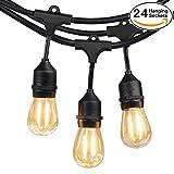 2-Pack 48Ft 24 Hanging Socket LED Outdoor String