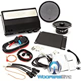Arc Audio MPAK12 Motorcycle Audio Kit with 6.5 Coaxial Speaker + 4-Channel Amplifier compatible with 2015+ HD Roadglide Only Motorcycles