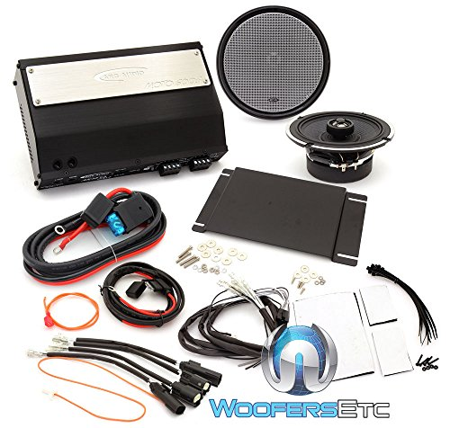 Arc Audio Mpak12 Motorcycle Audio Kit With 6 5  Coaxial Speaker   4 Channel Amplifier Compatible With 2015  Hd Roadglide Only Motorcycles