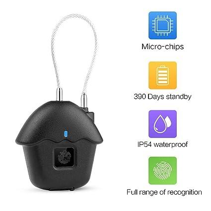 bd62595bfea2 Fingerprint Lock,DAMPOT Portable Smart Biometric Security No  Password,Waterproof and Anti-Theft Padlock for Golf Bag,Suitcase,Gym ...