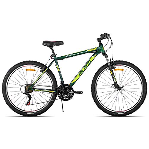 Hiland 27.5 Inch Mountain Bike with 21 Speed Suspension Fork 2 Colors 2 Frame Size