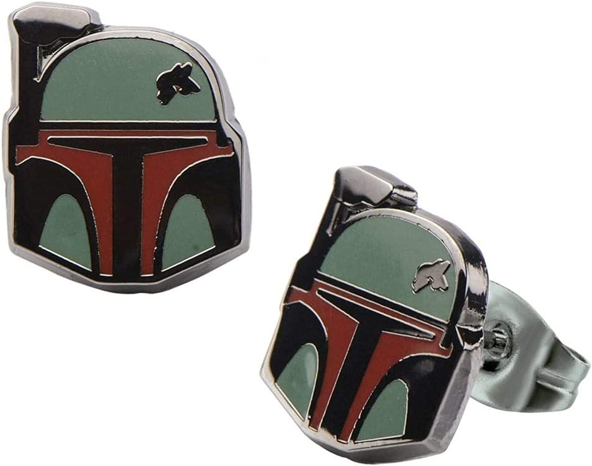 Animewild Star Wars Boba Fett Stud Earrings