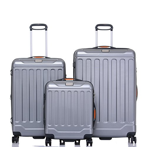 Jeep Luggage Canyon 2018 3 Piece Sets spinner wheels (Silver)