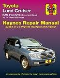 Toyota Land Cruiser Petrol & Diesel Automotive Repair Manual: 2007-2015: Part 92753