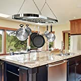 Sorbus Pot and Pan Rack for Ceiling with Hooks