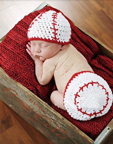Image Unavailable. Image not available for. Color  Crochet Baby Newborn  Girl Boy Baseball Hat Diaper Cover ... ac43a1eb813